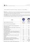 Clarity vs Clarity Lite Comparison Brochure (PDF 83 KB)