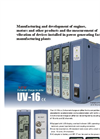 Rion - Model UV-16 - Dual Channel Charge Amplifier Datasheet