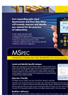 MSpec - Portable Fast Responding Radiation Spectrometer and Dose Rate Meter Brochure