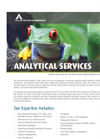 Food Testing, Inspection, Auditing and Consulting Services- Brochure