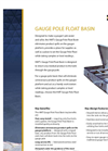 Gauge Pole Float Basin – Brochure