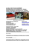Tire Recycling Data 5 Brochure