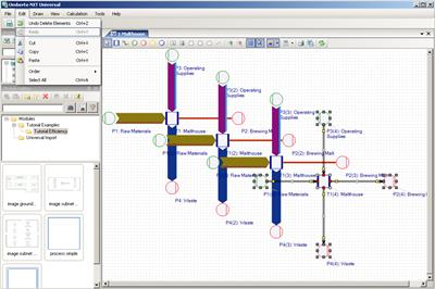 Umberto NXT Universal - Software for Life Cycle Assessment, Life Cycle Costing and Material and Energy Flow Analysis in Production Systems