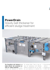 PowerDrain - Gravity Belt Thickener for Efficient Sludge Treatment - Brochure