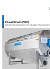 PowerDrum - Model PDR - Drum Thickeners for Sludge Thickening - Brochure