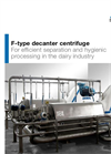 Andritz - Model F-Type - Decanter Centrifuges for Dairy - Brochure