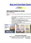 Filter Bag and Cartridge Filter Cleaning Brochure