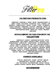 Filtration Products Flier Brochure