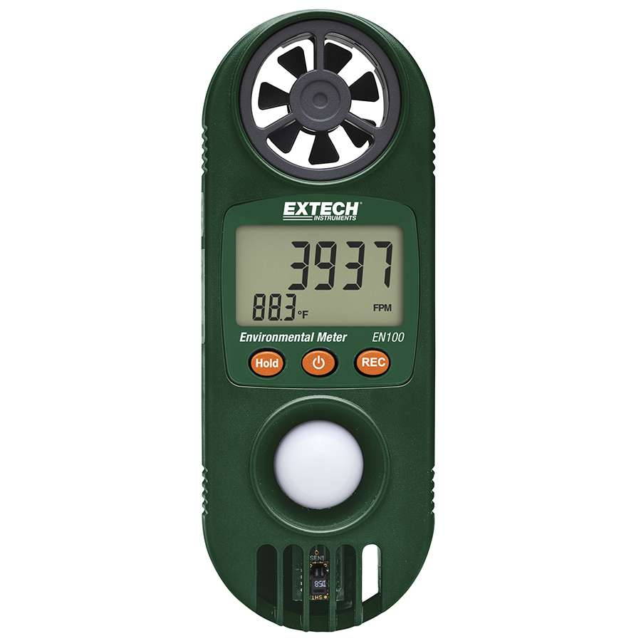 Extech - Model EN100 - Compact Hygro-Thermo-Anemometer with Light Sensor
