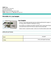 Gas Sampler P/N 04565-311 Brochure