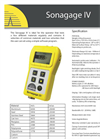 Sonagage - Model IV - Thickness Gauges Brochure