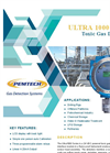 PemTech - Model Ultra1000 Series - 24 VDC Powered Toxic Gas Detector - Datasheet