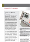 Aysix - 150 - Stationary Clamp On Ultrasonic Flowmeter Datasheet