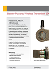 RF Wireless Battery Powered Explosion Proof Datasheet