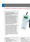 Aysix - 3100 - Portable Dissolved Oxygen Analyzer Datasheet