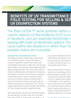 Benefits of UV Transmittance (UVT) Field Testing for Selling & Servicing UV Disinfection Systems Application Note