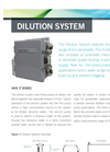 Dilution System Spec Sheet
