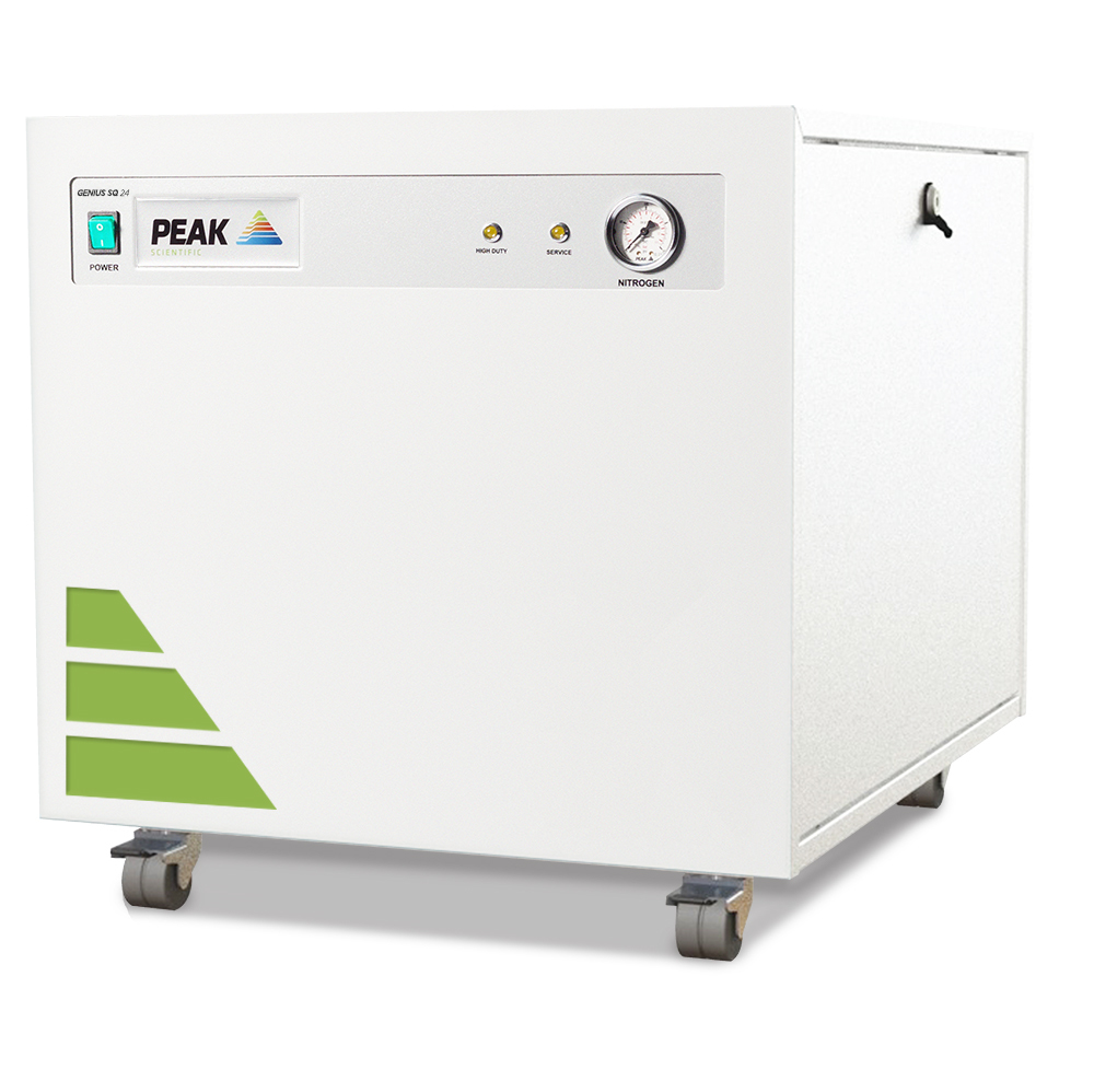 Peak Scientific underlines its position as the leader in nitrogen systems for single quad LC-MS with new cost-efficient Genius SQ 24