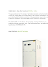 Model CG15L - 22L - Calibration Gas Generators - Brochure