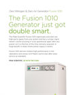 Peak Scientific - Model Fusion 1010 - Zero Nitrogen & Zero Air Generator - Datasheet