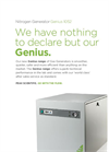 Genius - Model 1052 - Pressure Swing Adsorption (PSA) Nitrogen Gas Generator - Datasheet