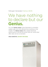 Genius - Model 3045 - Nitrogen and Dry Air Gas Generator - Datasheet
