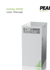 Genius - Model 3040 - Nitrogen Generator - User Manual