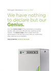 Genius - Model 1061 - Nitrogen & Dry Air Gas Generator - Datasheet