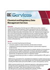 Chemical and Regulatory Data Management Services (CRDM) Brochure