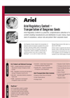 Ariel Regulatory Content – Transportation of Dangerous Goods Brochure