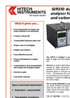 Model GIR250 - Oxygen and Carbon Dioxide Analyser (Bench Top) Datasheet