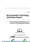 US EPA ETV Report