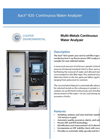 Xact 920 Continuous Water Analyzer for Metals - Specification Sheet