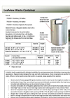 Leafview - Model 20-Gallon - Waste Container - Brochure