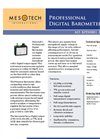 Model MT-BPD0001 & MT-BPD0002 - Digital Barometer Brochure