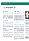 LIQUID BOOT Spray-Applied Gas Vapor Barrier - Technical Data