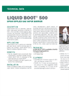 LIQUID BOOT 500 Spray-Applied Gas Vapor Barrier - Technical Data