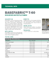 BASEFABRIC T-60 Non-Woven Geotextile Fabric - Technical Data