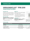 ORGANOCLAY PM-200 Organic Adsorption Media - Technical Data