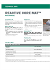 REACTIVE CORE MAT - Model APATITE - Permeable Composite of Geotextiles and a Mineral - Technical Data