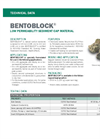 BENTOBLOCK Low Permeability Sediment Cap Material - Technical Data