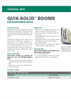 QUIK-SOLID Superabsorbent Media Booms - Technical Data
