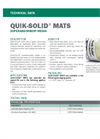 QUIK-SOLID Superabsorbent Media Mats - Technical Data