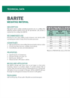 Barite Weighting Material - Technical Data Sheets