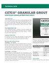 CETCO Granular Grout - Technical Data Sheets