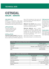 CETSEAL Sealant/Adhesive - Technical Data Sheets