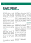 ENVIROSHEET Composite Sheet Waterproofing Membrane - Technical Data Sheets