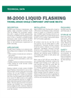 M-2000 Liquid Flashing - Technical Data Sheets