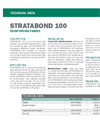 STRATABOND 100 Reinforcement Fabric - Technical Data Sheets