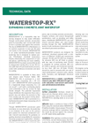 WATERSTOP RX Flexible Strip Concrete Construction Joint - Technical Data Sheets